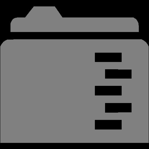 Gray Full Folder Icon