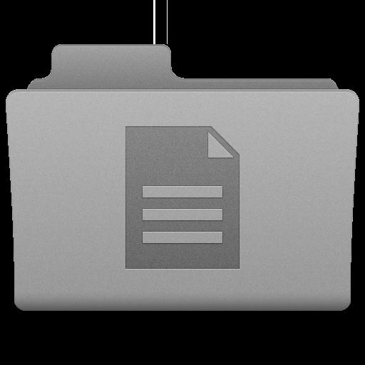Grey Documents Folder Icon