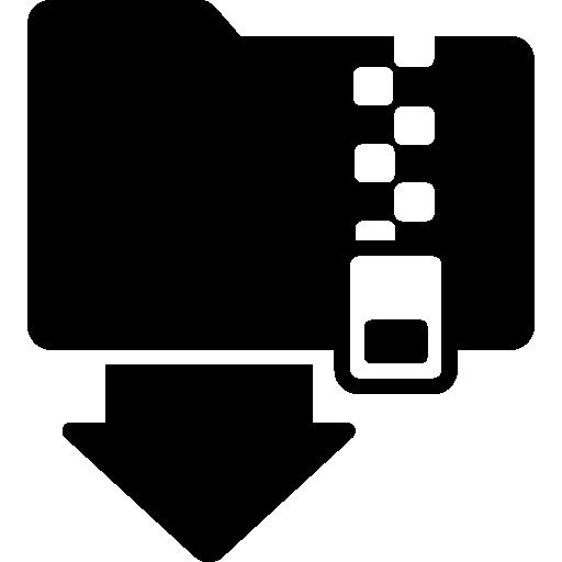 Zip Folder Download Interface Symbol