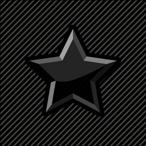 Dark, Mark, Rank, Star Icon