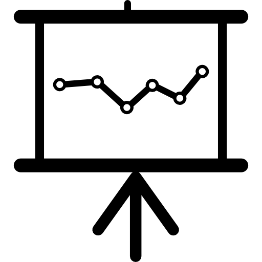 Data Analytics Graphic On A Presentation Screen Icons Free Download