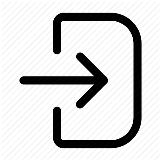 Arrow, Entry, In, Log, Sign Icon