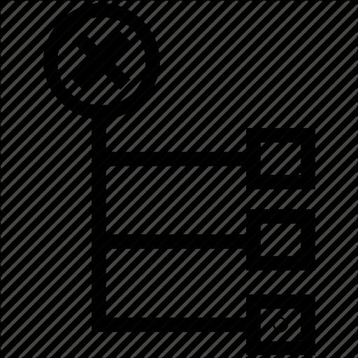Data Flow, Delete Node, Flow Chart, Hierarchy, Organization Icon