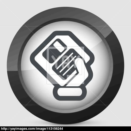 Saving Data Icon Vector