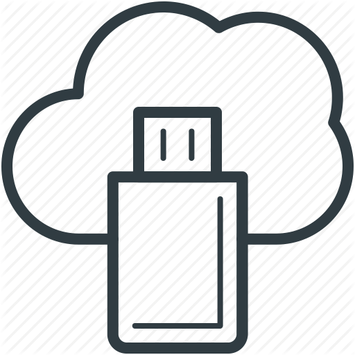 Cloud Computing, Cloud Storage, Data Storage, Storage, Usb Icon