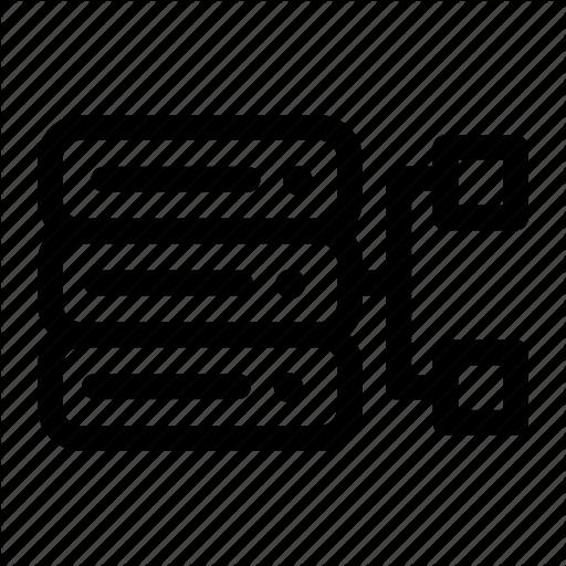 Conncetion, Data, Database, Management, Sharing, Storege Icon