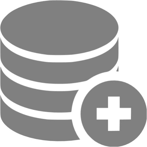 Gray Add Database Icon