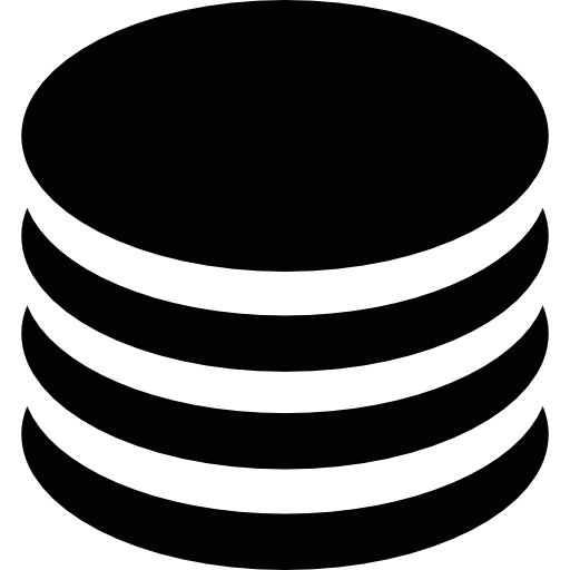 Coins, Money, Database Icon