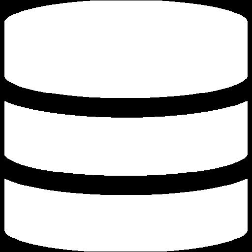 White Database Icon