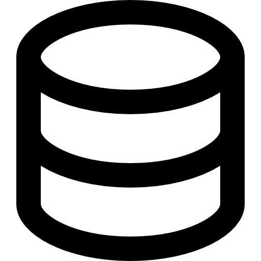 Database Or Cake Outline Icons Free Download
