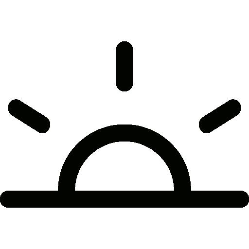 Morning, Sunrise, Weather, Sun, Dawn, Meteorology, Nature Icon