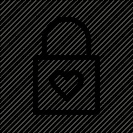 Eternal, Lock, Love, Romantic, Valentine, Valentine's Day Icon
