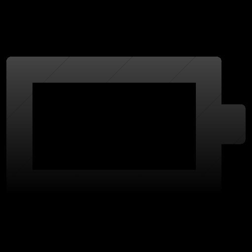 Simple Black Gradient Foundation Battery Empty Icon