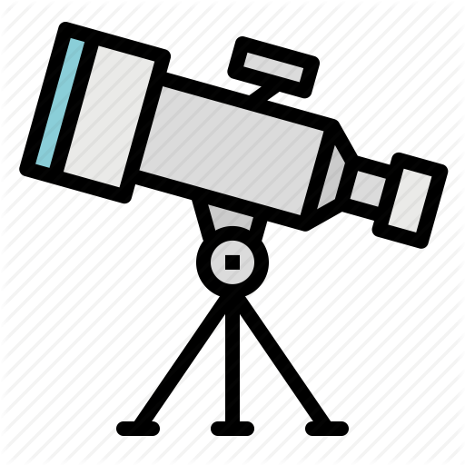 Astrology, Observation, Science, Space, Telescope Icon