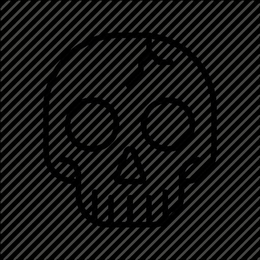 Bone, Dead, Halloween, Horror, Scary, Skeleton, Skull Icon