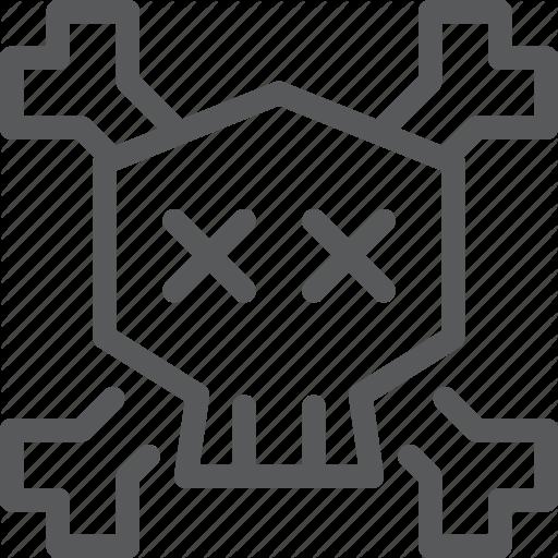 Content, Danger, Death, Edition, Head, Poison, Skeleton, Skull Icon