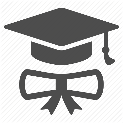 Degree, Diploma, Graduate, Graduation Cap, Hat Icon