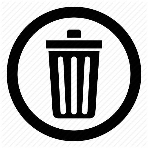 Button, Delete, Garbage, Recycle Bin, Remove, Trash, Trash Can Icon
