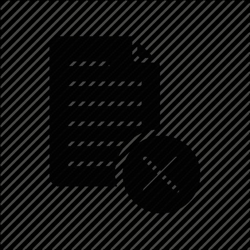 Delete, Document, Document Delete, File, Paper, Print Icon