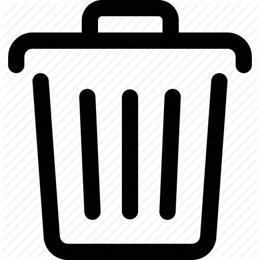 Delete, Dump, Trash, Trash Bin, Trash Can, Trashcan, Waste Basket Icon