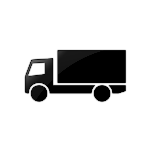 Black And White Truck Icon Images