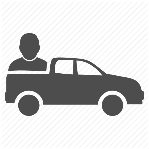 Car, Delivery, Pickup, Taxi, Transport, Travel, Truck Icon
