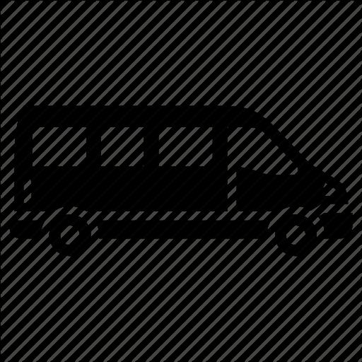 Cargo Truck, Cargo Van, Delivery, Mini Bus, Mini Van Icon
