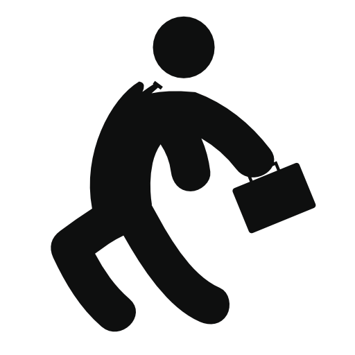 Worker Running Free Vector Icons Designed
