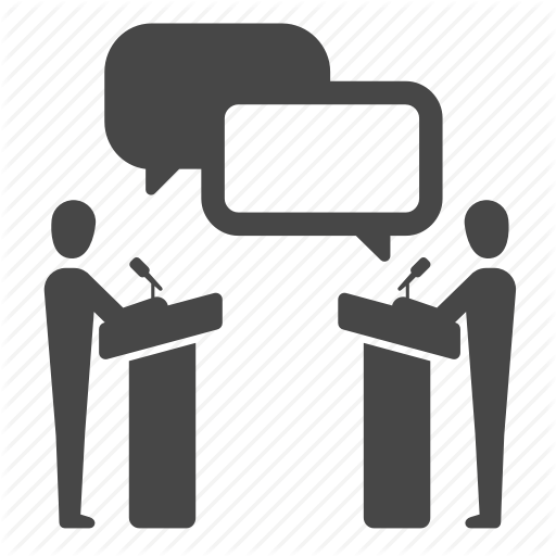 Argue, Debate, Democracy, Dispute, Political, Speak, Speech Icon