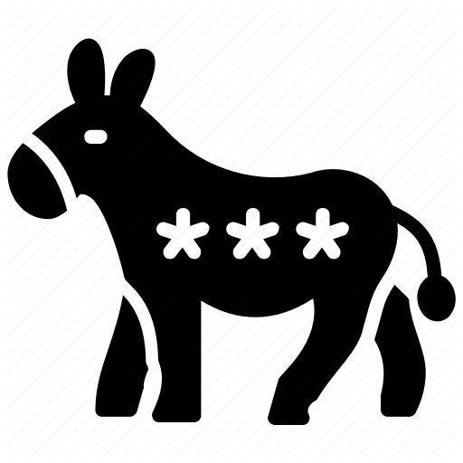 Democratic Donkey, Government Symbol, Political Emblem, Politics