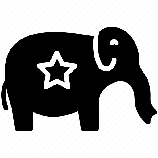 Democratic Elephant, Government Symbol, Political Emblem, Politics