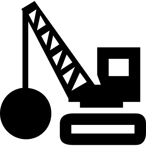 Demolition Tool Transport With Weight Ball Icons Free Download