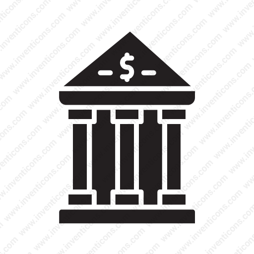 Download Cash,deposit,income,building,currency Icon Inventicons