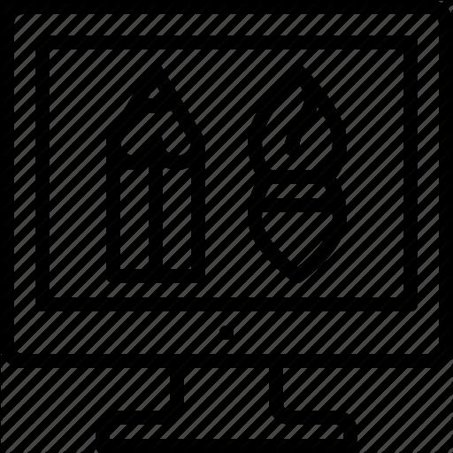 Graphic Design, Visual Design, Web Design Icon