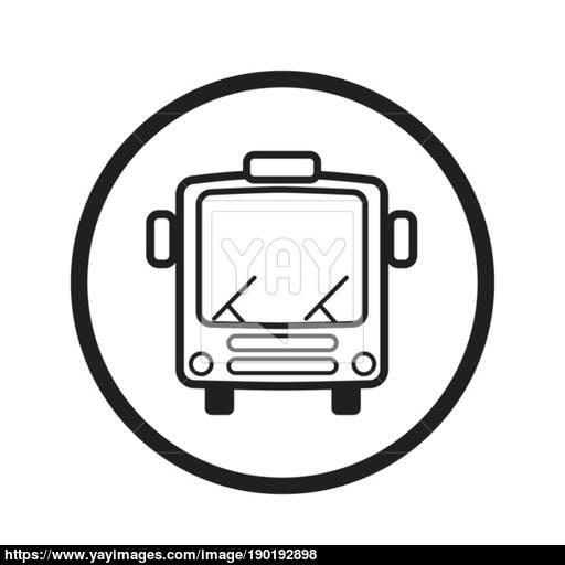 Linear Bus Icon