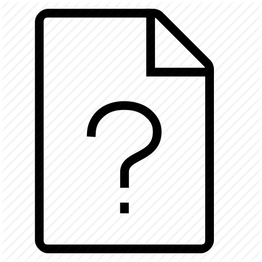 Document, Mime Type, Unknown Icon