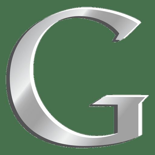 G Letter Google Silver Icon