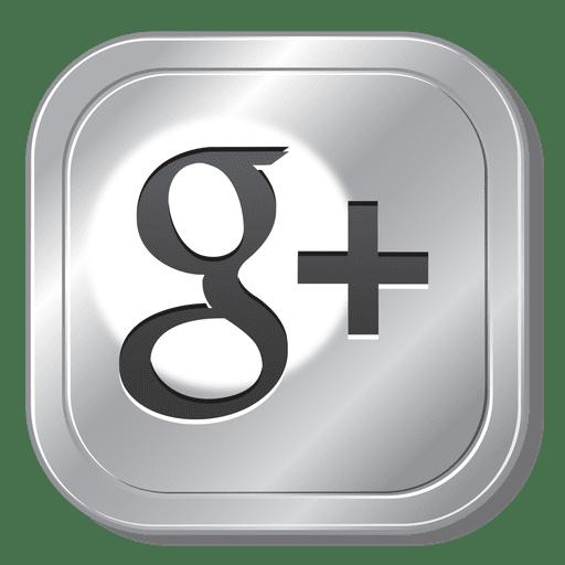 Google Plus Metal Button