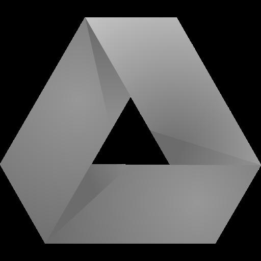 Original, Dark, Google, Drive, Gray Icon