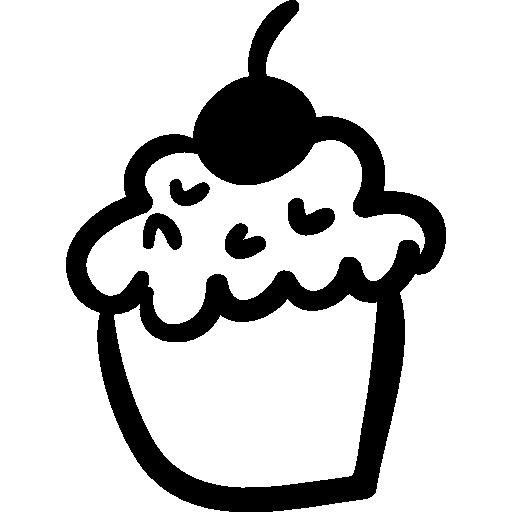 Cupcake Handmade Dessert Icons Free Download