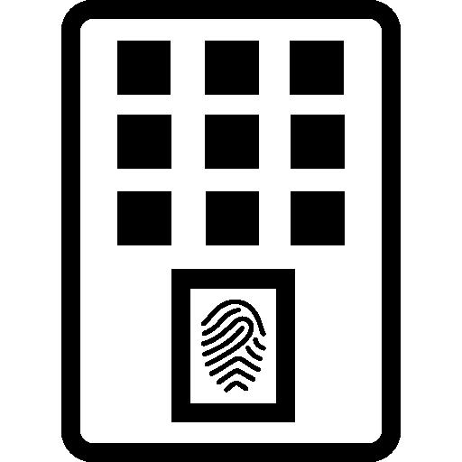 Fingerprint Scanner Device Icons Free Download