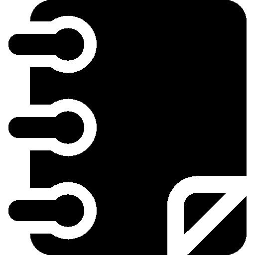 Black Diary Icon