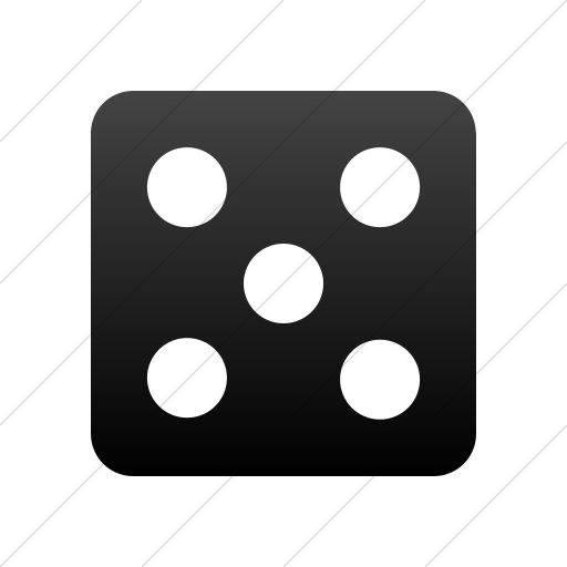 Simple Black Gradient Foundation Die Five Icon