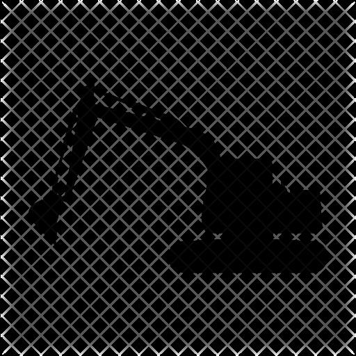 Mini Excavator Png Black And White Transparent Mini Excavator