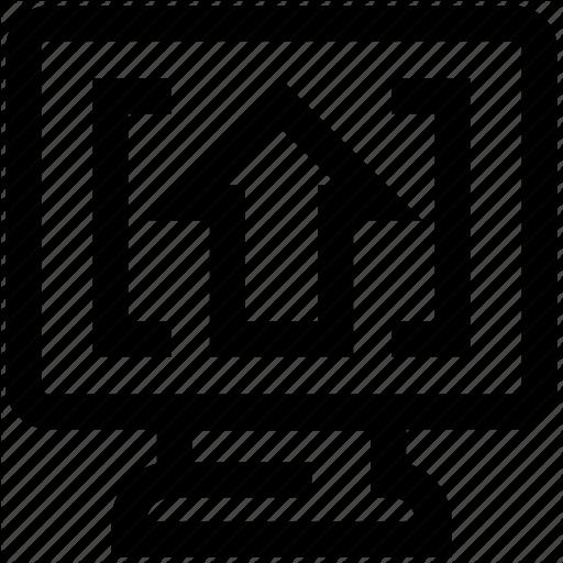 Arrow, Digital Marketing, Display, Lcd, Screen Icon