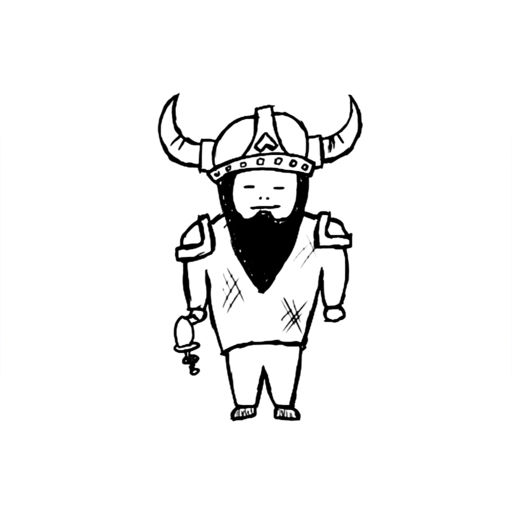 Viking Doodle Warrior Two Man Clash Fast Fingers Duel Game