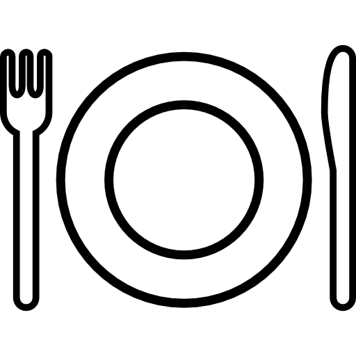 Plate And Cutlery Outline
