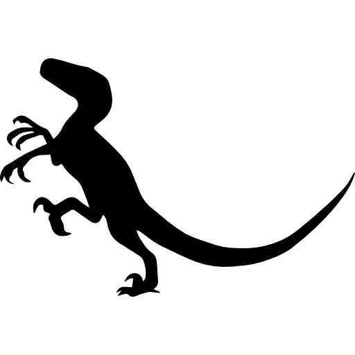 Velociraptor Dinosaur Shape Icons Free Download