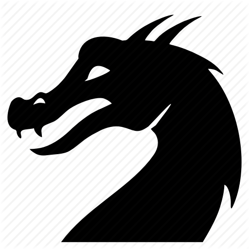 Danger, Dino, Dinosaur, Dragon, Head Icon