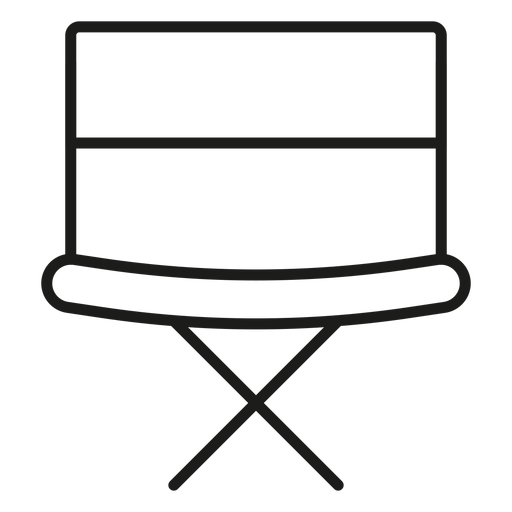 Director Chair Stroke Icon